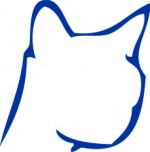 Cat silhouette_BLUE